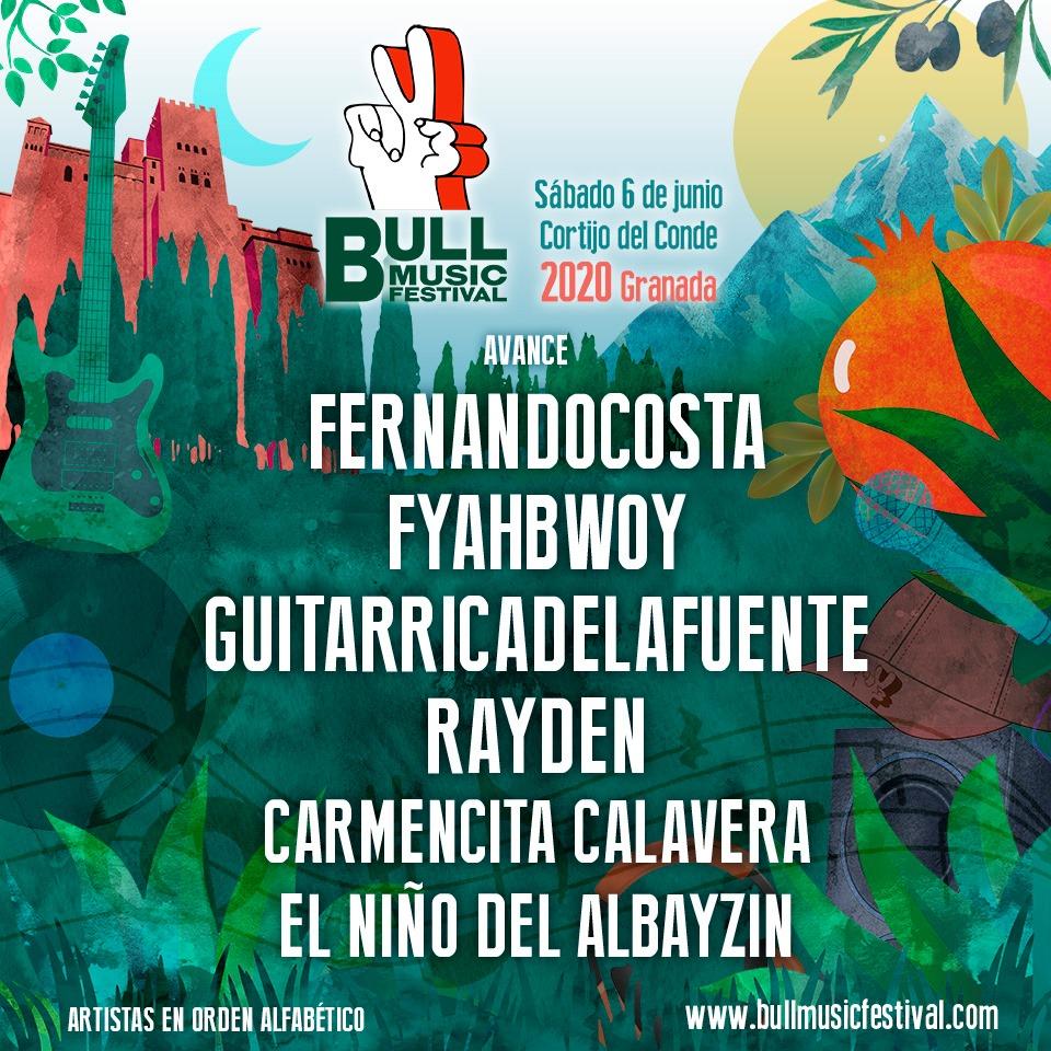 Bull Music Festival adelanta seis nuevos nombres encabezados por Fernandocosta, Fyahbwoy y Guitarricadelafuente