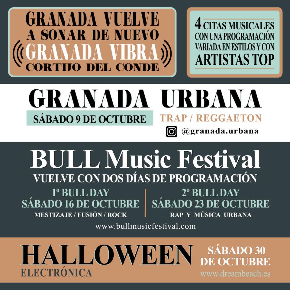 """Este otoño Granada volverá a sonar con las cuatro citas musicales de """"Granada Vibra"""""""