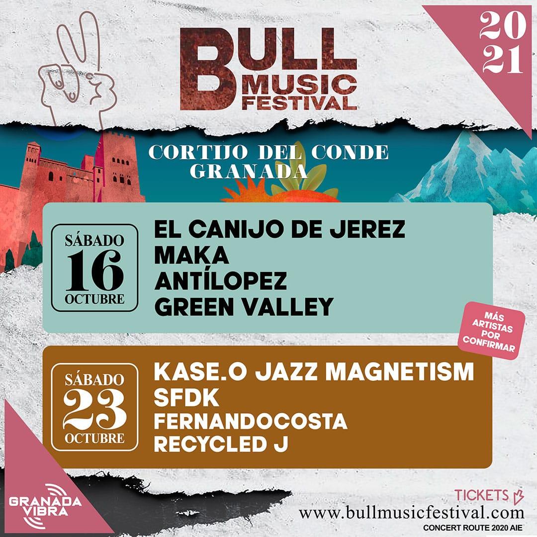 BULL MUSIC FESTIVAL regresa en octubre y trae a Granada lo más top de la música fusión, rap y rock